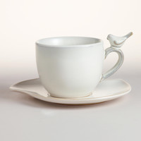 Bird Cups & Saucers, Set of 4 - World Market