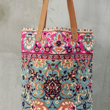 Tote bag Paint bag Summer Colorful Neon Printed Tribal bag  Canvas Hobo Hippie bag Weekender bag Beach bag Boho Hipster Beach tote bag,