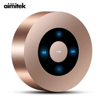 *Aimitek A8 Mini Wireless Bluetooth Speaker Portable Touch Screen Stereo Subwoofer MP3 Player with Microphone TF Card Slot AUX-in