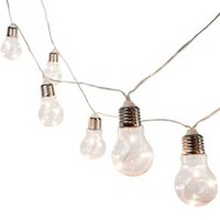10ct Battery Operated Plastic Edison Bulb String Lights - Threshold™