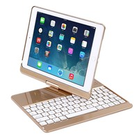 For IPAD AIR 9.7'' 360 Degree Rotation Keyboard Case Smart Cover Stand For iPad 5 iPad 6 iPad air 1 air 2 with 7 color backlight