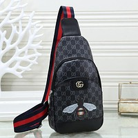 GUCCI Woman Men Fashion Leather Chest Bag Crossbody Shoulder Bag Satchel