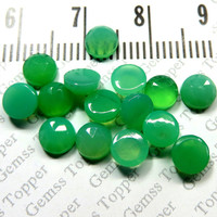 5mm Rose cut Chrysoprase Cabochon Round - Top AAA Quality Natural Chrysoprase Chrysoprase Rose cut Gems - Faceted Cabochon - FOR ONE