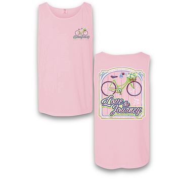 Sassy Frass Love the Journey Bicycle Comfort Colors Bright T Shirt Tank Top
