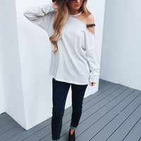 Time With You Top: Grey Mist