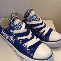 Kansas city royals tennis shoes please read description before purchasing