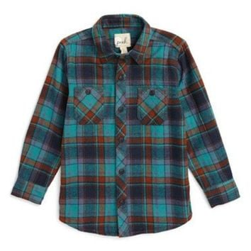 DCCK8BW GILMAN UTILITY PLAID FLANNEL SHIRT (TODDLER BOYS LITTLE BOYS & BIG BOYS)