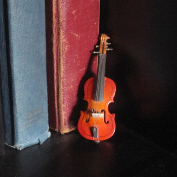 Vintage Austrian Miniature Violin.  In Case with Bow.