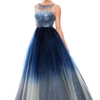 Precious Formals P46846 Ombre Ball Gown Prom Dress