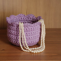 Crochet bowl, Mothers Day gift, crocheted basket, jewelry dish, candle holder, storage bin, gift basket, storage solution, housewares, mauve