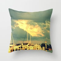 Time To Set Sail Throw Pillow by 2sweet4words Designs