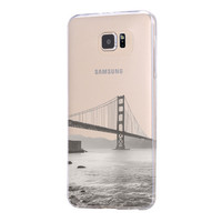 Golden Gate Bridge San Francisco California USA Samsung Galaxy S6 Edge Clear Case Galaxy S6 Transparent Case Samsung S5 Hard Cover C0009