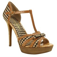 Jessica Simpson Britt Gingham Platform Pump at Von Maur