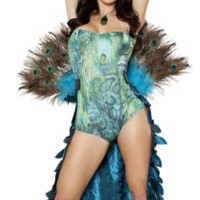 Pretty Peacock Sexy Costume - Halloween Costumes