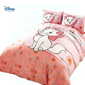 cute Cat Marie comforter disney bedding set girl single twin size quilt cover full queen king bed linens cartoon pillow case kid
