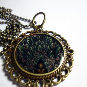 Chrono Trigger video game necklace -  LAVOS pendant on brass ball chain - 18 inches free size adjustments -  gamer  - Video game