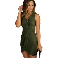 Olive Ultra Suede Dress