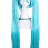 L-email 100-105cm Blue Long Straight Hatsune Miku Vocaloid Cosplay Hair Wig Rw78