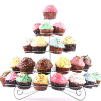 Cupcake Multi-Tiered Metal Dessert and Cupcake Stand Holds 41