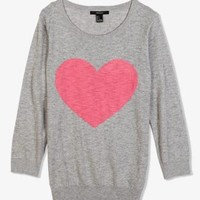 Heathered Heart Sweater