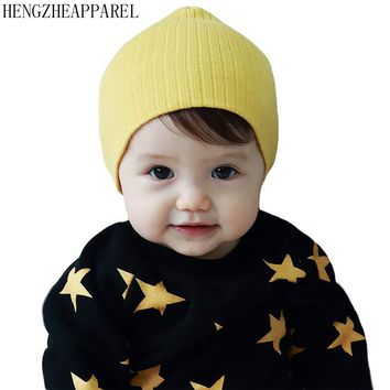 solid color Baby retro cotton hat spring summer new 0-3 year old children fashion cute landlord cap boys girls headwear beanies