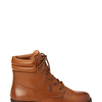 FOREVER 21 Faux Leather Hiking Booties