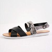 Allessandra Snakeskin Sandal | Restricted