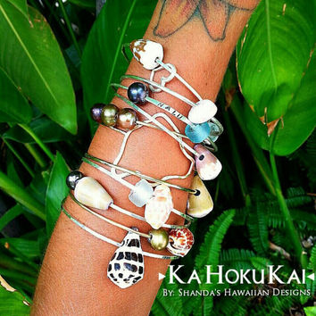 Hawaiian Shell Bangles 14k Gold Filled