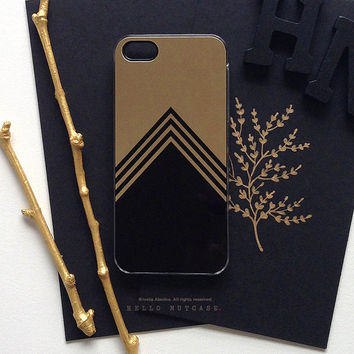iPhone 5 Gold Metallic Case, iPhone 5s Black Chevron Case, iPhone 4 Case, iPhone 4s Case, Geometric iPhone Case, TOUGH iPhone Cover M7