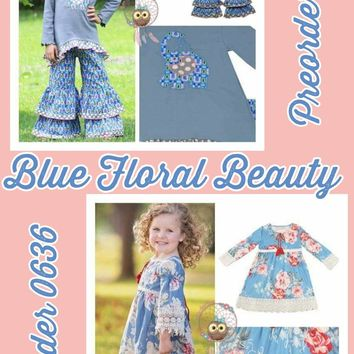 Blue Floral Beauty*Preorder- 0636*Closes:December 18th at 8pm*ETA: 8 weeks