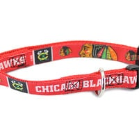 Chicago Blackhawks Premium Dog Collar