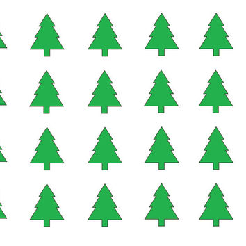 25 Pack Christmas Tree Decals - Vinyl Stickers - C2103