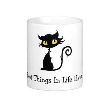 The Best Things In Life Have Fleas Cat White Coffee Mugs Tea Mug Customize Gift By LVSURE Ceramic Mug Travel Coffee Mugs