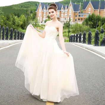A line long sleeveless lace up back dresses neckline formal gowns