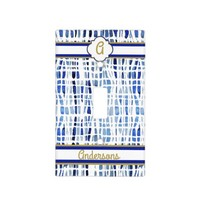 Chic Blue Tie Dye Monogrammed Light Switch Cover