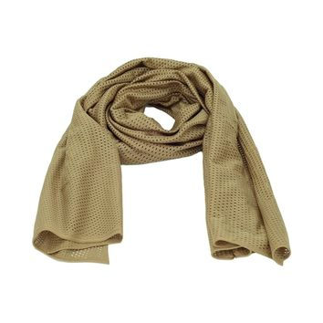 Camping Hiking Men Scarf Military Tactical Camouflage Scarf Mesh Outdoor Outdoor Jungle Muffler Breathable Headband Mesh Scarf