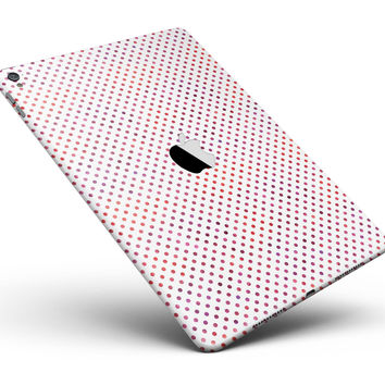 """Tiny Red and Purple Watercolor Polka Dots Full Body Skin for the iPad Pro (12.9"""" or 9.7"""" available)"""