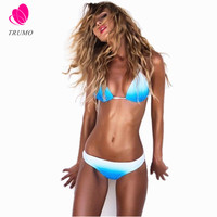 New style Adjustable Chest belt Bikini Set Ocean blue  push up Swimsuit low waist Brazilian swimwear
