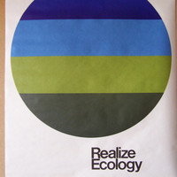 Realize Ecology green movement poster