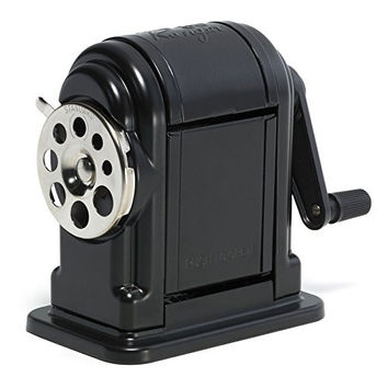 X-Acto Ranger 55 Table- or Wall-Mount Heavy-Duty Pencil Sharpener, Black, 1 Unit (1001)