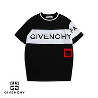 Givenchy 2019 early spring new color matching letter print round neck short-sleeved T-shirt black