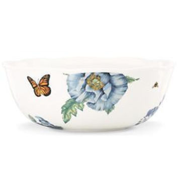 Butterfly Meadow® Blue Serving Bowl by Lenox