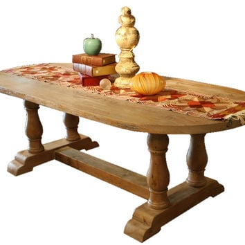 Londonberry Trestle Dining Table in Reclaimed Wood