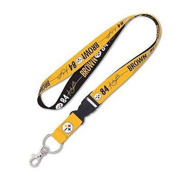ANTONIO BROWN #84 PITTSBURGH STEELERS LANYARD DETACHABLE BUCKLE NEW WINCRAFT