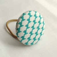 Ponytail Holder, Teal Clouds on Luulla