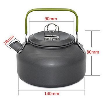 ICIKJG2 1 PC 1.2L Aluminum Tea Kettle Cookware Set Camping Pot Teapot Use for Outdoor Camping  Cooking Tools VEO69 T50