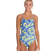 Dolfin Uglies Rivoli Print Womens V-2 Back Swimsuit at SwimOutlet.com