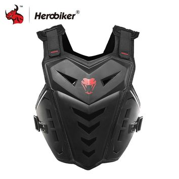 Trendy HEROBIKER Motorcycle Jacket Body Armor Motocross Protective Gear Motocross Off-Road Racing Vest Moto Armor Vest Black And White AT_94_13
