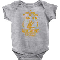 I Am A Childhood Cancer Survivor, What Is Your Superpower Infant Clothing