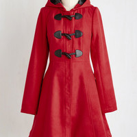 Vintage Inspired Long Fit & Flare Meet Me at the Matinee Coat